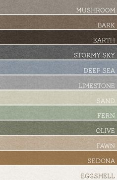 Take any set of 3 of these colors and each room would be amazing. A palette for the whole house.