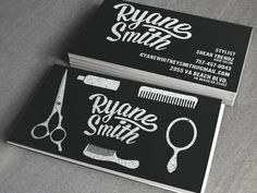 nice hair stylist business cards