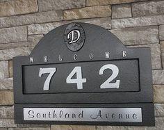 Nautical Home Address Plaque House Numbers by Georgiegirlstudios