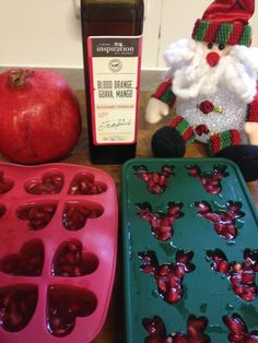 Fresh Pomegranate with YIAH OMG Balsamic Vinegar ice cubes  :)  Getting ready for Christmas..