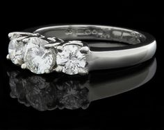 Neil Conway Jewellers Dublin. Three Stone Diamond Ring Ref 4713