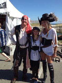 Tybee Island Piratefest - Addison's 1st year; 2014!