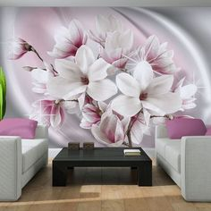 38 Floral Wallpaper Flower Mural Wallpaper Non Woven an in Depth Anaylsis on What Works and What Doesnt - homeuntold Creative Wall Decor, 3d Wall Decor, 3d Wallpaper Decor, 3d Wanddekor, Sweet Home Design, Flower Mural, Bedroom False Ceiling Design, Interior Design Living Room, Wall Design