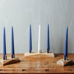 The HEDRON Candle Holder have been skilfully hand-crafted by one of the Temper team in our Wiltshire workshop from sustainably sourced English Sycamore, Beech or Oak with brushed brass posts. Studio, Hardwood, Candle Holders, Candles, English, Brass, Shop, Accessories, Natural Wood