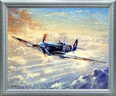 Spitfire Airplane Painting Military Aviation Wall Decor S... https://www.amazon.com/dp/B01MRUBBCS/ref=cm_sw_r_pi_dp_x_8uaFzbWQE8CV1