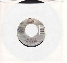 "Beach Boys / Getcha Back / Male Ego / Rare 7"" Vinyl 45 RPM Jukebox Record #BrianWilson #BeachBoys #RocknRoll"