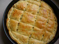Υλικα  1 πακετο φυλλο σφολιατας  2 μπουτια κοτοπουλο βρασμενα  200γρ. τυρι κρεμα φιλαδελφια  1 μεγαλο πρασο ψιλοκομμενο  1 πιπερια φλωριν... Apple Pie, Health Tips, Food And Drink, Chicken, Fruit, Cooking, Desserts, Recipes, Foods