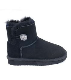 UGG Kids Mini Bailey Button Bling Boots Black Online Sale Kids Ugg Boots, Ugg Kids, Mini Baileys, Boot Bling, Black Boots, Uggs, Button, Shoes, Women