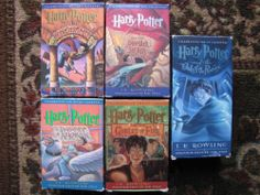 Harry Potter Lot Audio Books on Cassette 1-5 J.K. Rowling Books on Tape VGUC