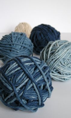 Indigo dyed cotton cord by Little me Blue