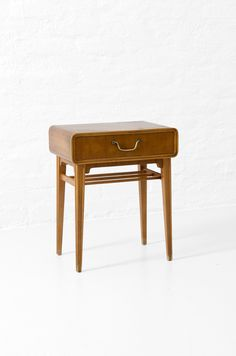 Axel Larsson bedside table in Mahogny produced by Bodafors