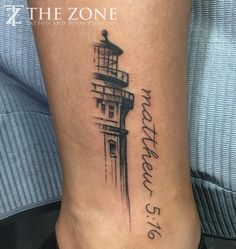 """46 Likes, 1 Comments - The Zone (@thezonetattoo) on Instagram: """"Tattoo by @scootnoosebomb #lighthouse #matthew516 #enteralink #tattoo #treatyourself #ucm…"""""""