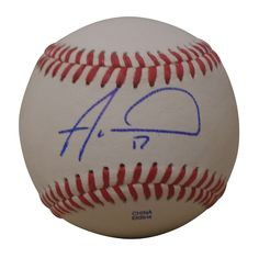Alex Wood Autographed Rawlings ROLB1 Leather Baseball, Proof Photo