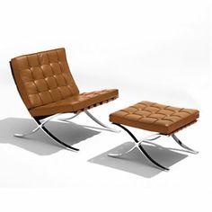 Barcelona Lounge Chair and Ottoman...