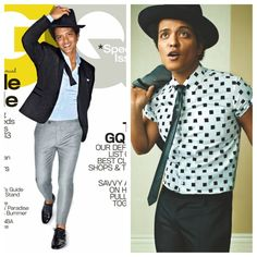 skinnyhipster:    Singer, Bruno Mars Covers 'GQ' Magazine April 2013. #fashion #magazine #Gq #music