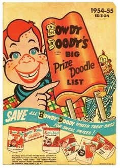 1954-1955 Howdy Doody Childrens Television Show Advertising - Howdy Doody Ice…