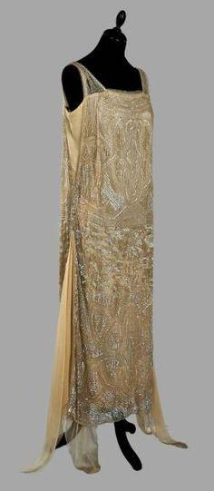 Evening dress, circa 1920-1925