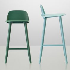 Nerd bar stools by Muuto. Two sizes available.