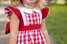 Georgia Vintage Dress by Crystal- the gingham lining to the red sleeve is gorgeous