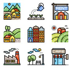 icon packs of building Building Icon, Font Free, Search Icon, Edit Icon, All Icon, Icon Pack, Icon Font, Gradient Color, Vector Icons