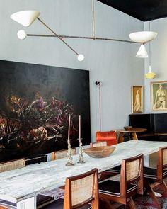 21 Vintage DIY Dining Table Design Ideas - Home Design - lmolnar - Best Design and Decoration You Need Diy Esstisch, Esstisch Design, Diy Dining Table, Dining Table Design, Dining Rooms, Rustic Table, Dining Sets, Dining Room Inspiration, Interior Inspiration