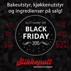Black Friday med tilbud på ALT! Men bare i dag... :) #blackfriday #salg #tilbud #slikkepott #kake #bakeglede #matglede #mat #godtno #sjokolade #matmag #nrkmat