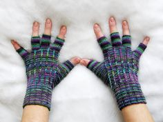 Fingerless wool gloves by zirochka on Etsy, $25.00