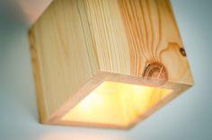 sconce wooden Q117 handmade. wall lamp. loft lamp. pine
