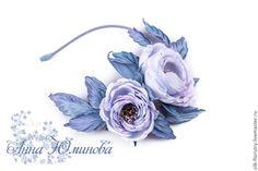 """Купить Ободок """"Шелковая симфония"""". Цветы из ткани. - ободок для волос, ободок с цветами"""