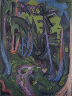 Ernst Ludwig Kirchner - Mountain Forest Path - Google Art Project; jpg (2714×3632)