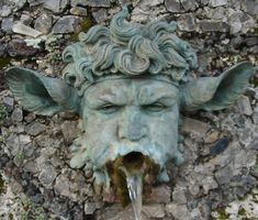 Villa Grabau, the fountain- San Pancrazio - Lucca Garden Sculpture, Lion Sculpture, Sculpture Ideas, Garden Fountains, Animal Heads, Water Features, Garden Inspiration, Garden Art, Sculpting