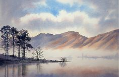 Original Watercolour Paintings and Signed prints of Snowdonia, North Wales, The Lake District, and Scotland by artist Chris Hull. Watercolor Painting Techniques, Watercolor Landscape Paintings, Watercolor Artwork, Gouache Painting, Seascape Paintings, Landscape Art, Watercolor Print, Watercolor Trees, Indian Paintings