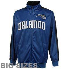 Men's Orlando Magic Majestic Royal Blue Big & Tall Tricot Full-Zip Track Jacket - $32.99