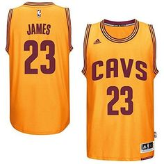 694a52d60 LeBron James 2016 FINALS MVP Cleveland Cavaliers Gold Swingman Jersey and  look the part of an NBA star. The Swingman jersey provides an authentic  look and ...