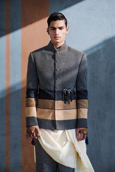 Shantanu & Nikhil 2018 'Tribe India Story' on Behance Indian Wedding Clothes For Men, Wedding Outfits For Groom, Wedding Dress Men, Indian Wedding Outfits, Wedding Tux, Indian Weddings, Farm Wedding, Wedding Couples, Boho Wedding