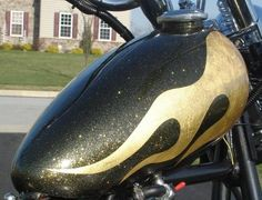 Example of black with gold fleck metallic paint - for the Jeep!
