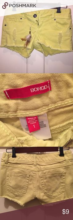 """""""Time after time"""" shorts These shorts are to die for. They are branded by Bongo. Size 1. Never been worn. They are denim like and are the cutest shade of green. These are the perfect addition to any bohemian outfit. Don't let this cuteness pass you by! BONGO Shorts"""