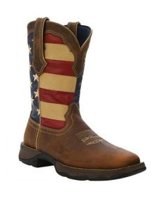 Durango Brown Union Flag Cowgirl Boots