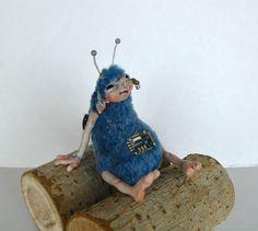 Купить флаппи. - синий, пришелец, игрушка, ручная работа, авторская игрушка, livingdoll, плюш, микросхема