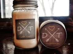 Personalized Valentines Day Candle//Anniversary by TheDancingWick