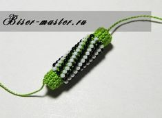 How to start/do the single bead crochet rope - for beginners, with detailed pictures - in Russian, but works with google translate