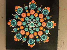 Dot Art Painting, Mandala Painting, Mandala Art Lesson, Arts And Crafts, Diy Crafts, Mandala Rocks, Nice Picture, Pebble Art, Diy Crochet