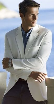 Summer Style 4 Men  A white blazer for the evening #aioutlet take me to #Aruba