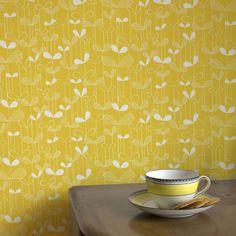 Saplings Wallpaper | Yellow Wallpaper | Buy Wallpaper Direct