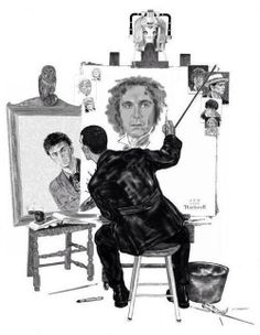 The 9th Doctor painting a self portrait......that must be hard with all those faces!!