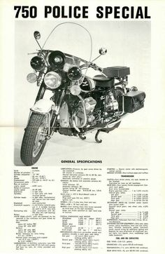 750-police-special Vintage Advertisements, Vintage Ads, Vintage Posters, Motorcycle Types, Motorcycle Engine, Moto Guzzi Motorcycles, Cars And Motorcycles, Italian Police, Moto Scooter