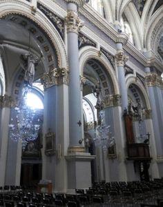 Side picture of Saint Gaetan Parish Church. #Malta #churches