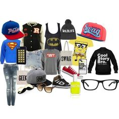 Ecards SWAG - Polyvore clothes, spongebob, style, girl, hoodie, shirt, outfit, swag, yee, swaggie, superman, fashion, converse, obey, baseball, shorts, trendy
