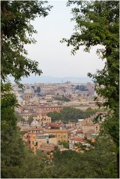 View from Gianicolo hill, Rome, Italy