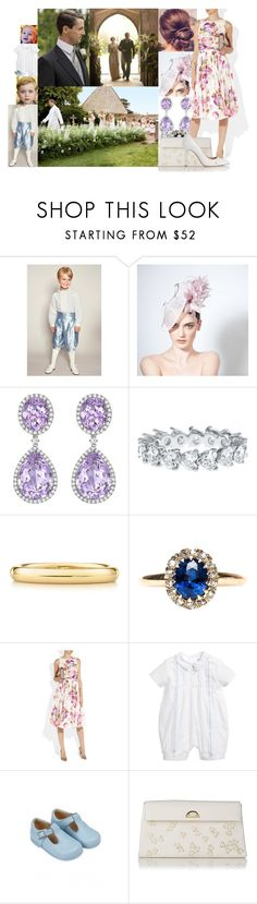 """Attending the wedding of Angela Heywood and Ziggy Hadleigh at St Giles Church"" by lady-maud ❤ liked on Polyvore featuring Elsa Peretti, Giambattista Valli and L.K.Bennett"